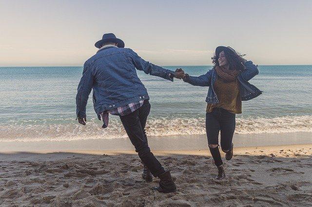 Couple Love Happy Follow Boyfriend